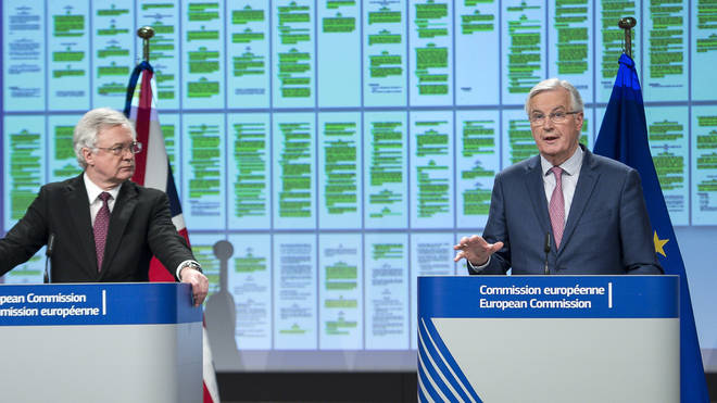 Formal Brexit talks between David Davis and Michel Barnier began on