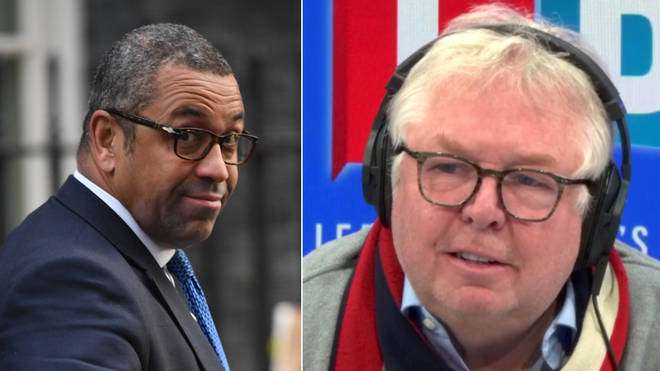 Nick Ferrari pushed James Cleverly on his defence