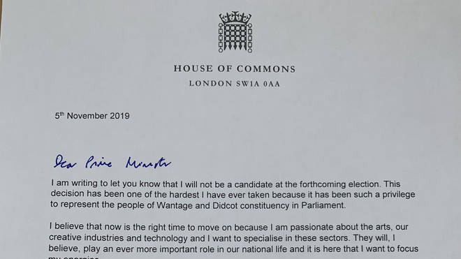 The letter Mr Vaizey wrote to the PM