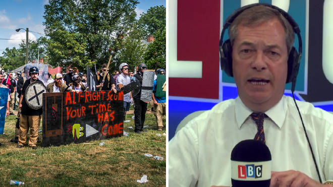 Nigel Farage slams anti-fascist protesters.