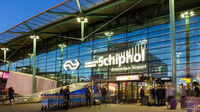 The incident is at Schiphol airport