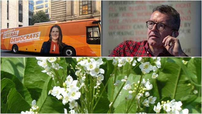 Lib Dems Bus, Tom Watson, and a horseradish plant...