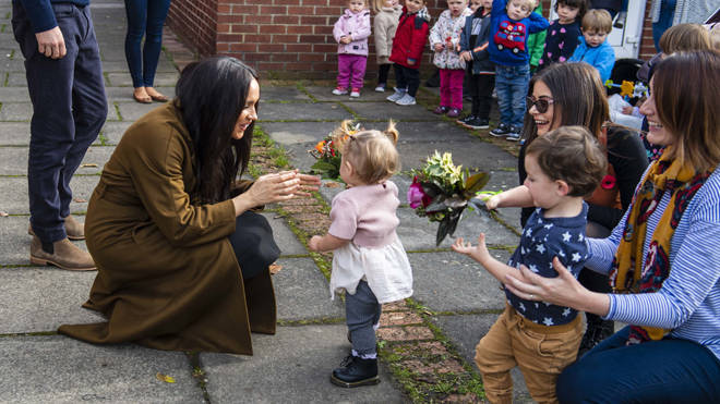 Meghan Markle was delighted to meet the toddlers