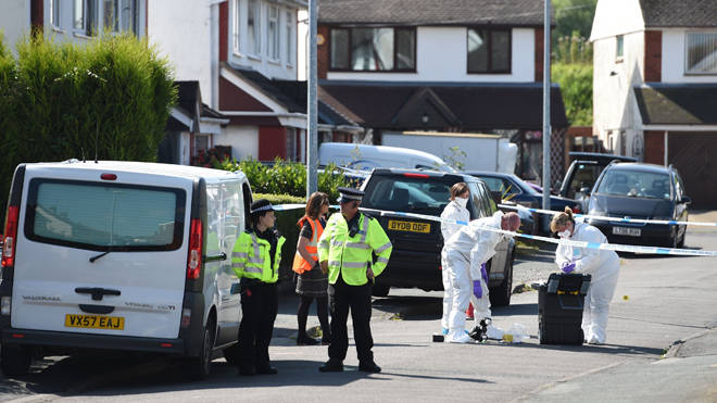 The scene outside an address in Meadow Close in the Trench area of Telford, after former Aston Villa footballer Dalian Atkinson died after he was tasered by police