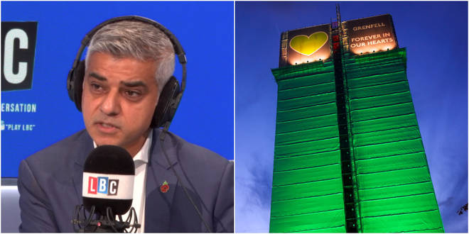 Sadiq Khan spoke to LBC about the Grenfell inquiry