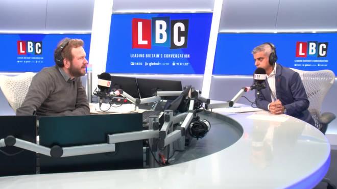Sadiq Khan spoke to LBC this morning