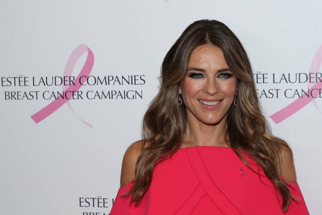 Elizabeth Hurley at The Estee Lauder Companies Breast Cancer Campaign in New York