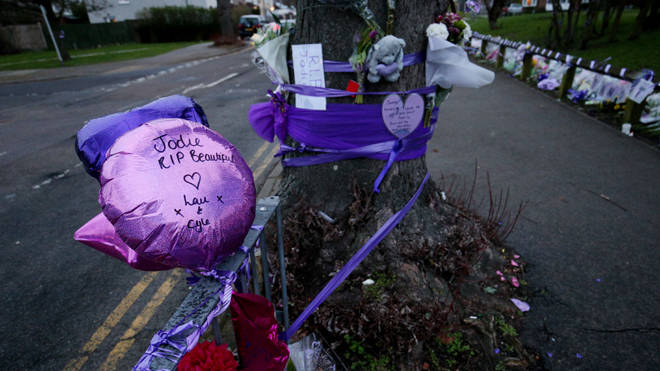 Tributes left in Romford to Girl Scout Jodie Chesney