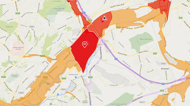 A red flood warning has been issued over fears the River Don will burst its banks