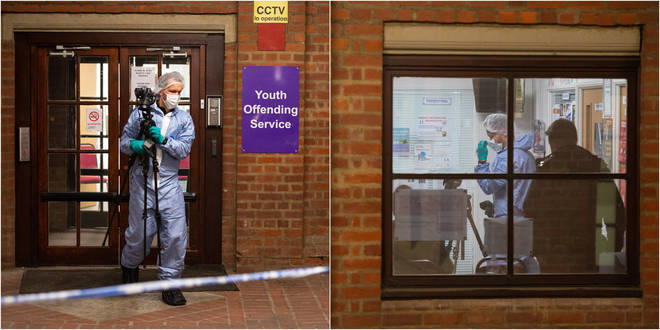 A teenager has been stabbed to death inside some council offices in Uxbridge
