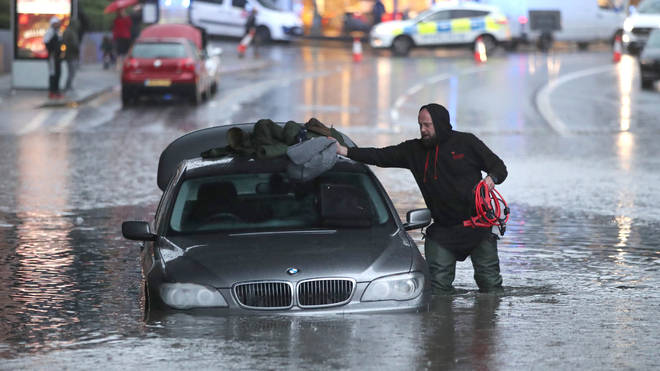 This motorist abandoned his car in Sheffield