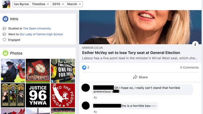 He also made comments about Esther McVey