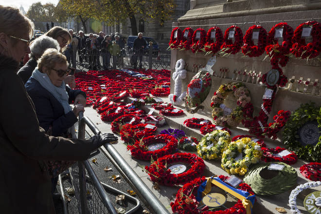Cenotaph visitors paying respects