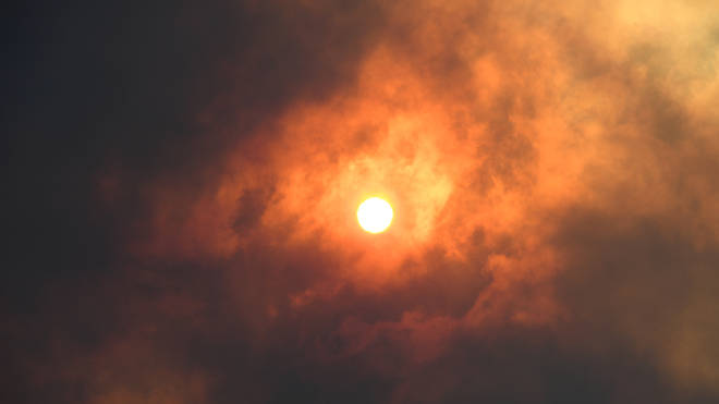 The smoke and the fires turned the sky orange