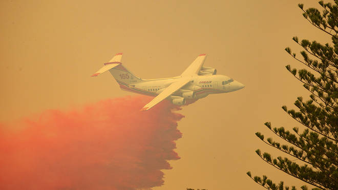 Aircraft were deployed in an attempt to quell the flames