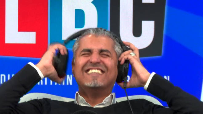 Caller's impressions of politicians leaves Maajid Nawaz in hysterics