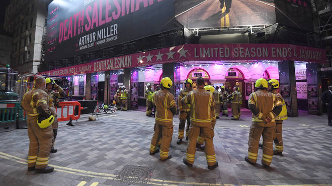 An initial investigation has found that a water leak caused the collapse of the ceiling at Piccadilly Theatre