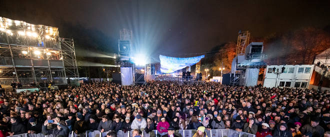 People are gathering at 200 events across Berlin to commemorate the fall of the Berlin Wall