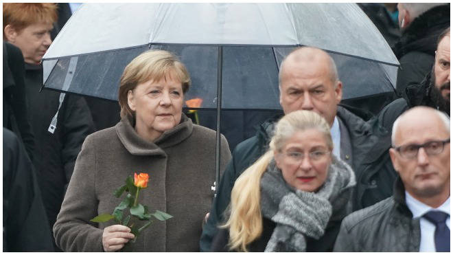 Public figures are marking the 30th anniversary of the fall of the Berlin Wall