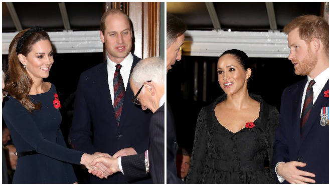 The Duke and Duchess of Sussex have reunited with the Duke and Duchess of Cambridge