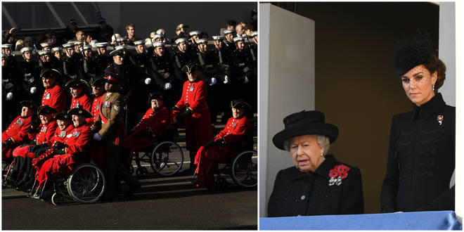 Remembrance Sunday: 10,000 veterans march past the Cenotaph