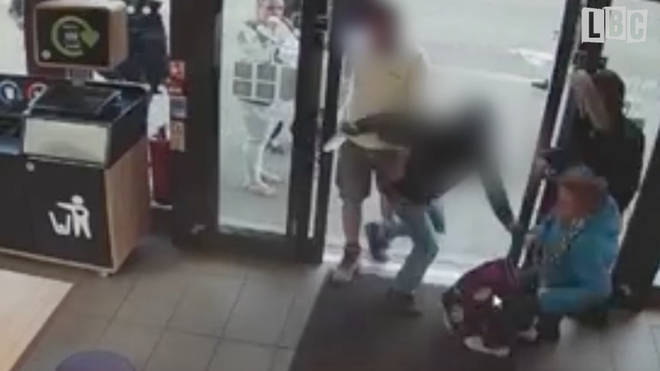 An elderly lady was knocked to the floor during the incident in a McDonald's in Penge