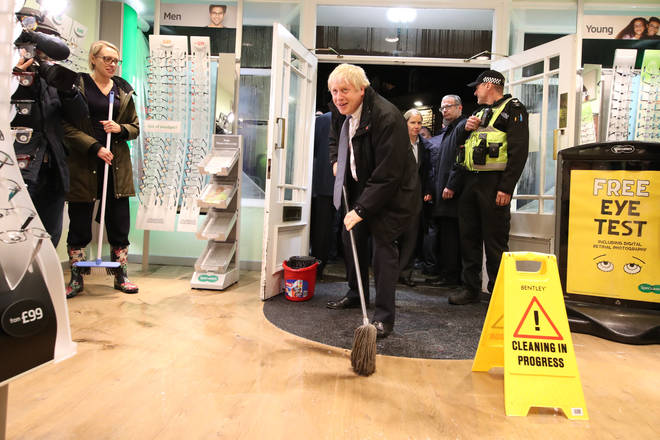 Prime Minister Boris Johnson visited Matlock, Derbyshire which has been hit by floods