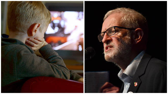 "Mr Corbyn wants to give children ""happier, healthier lives""."
