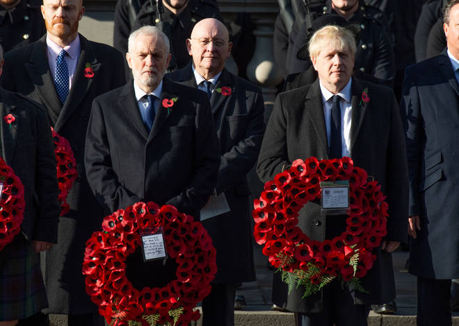 Mr Corbyn and Mr Johnson paid their tributes on Sunday