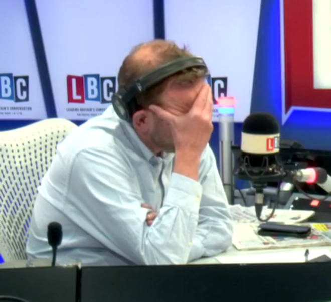 James O'Brien was visibly upset by the call