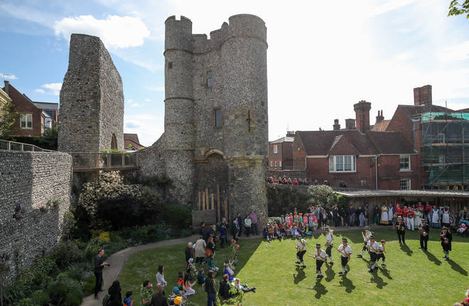 A wall at Lewes Castle has collapsed (file picture)