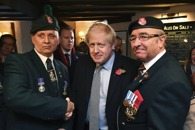 Boris Johnson has pledged to change the Human Right Act to protect Northern Ireland veterans