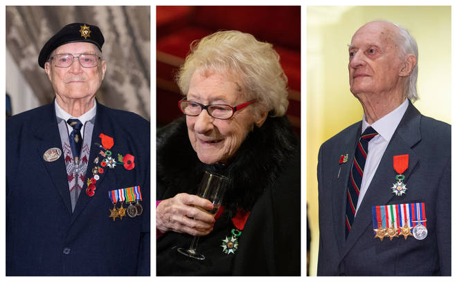 Three World War Two veterans have been honoured with the Legion d'Honneur the