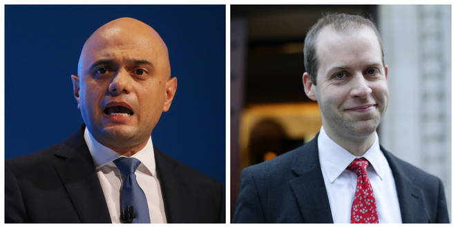 Chancellor Sajid Javid and Shadow Treasury minister Jonathan Reynolds