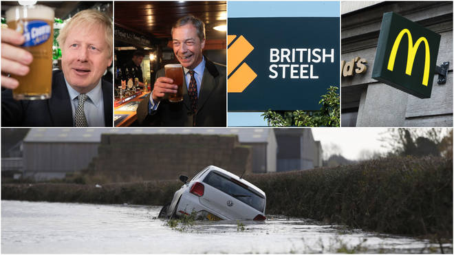 Brexit, Farage and Floods all featured highly in the news