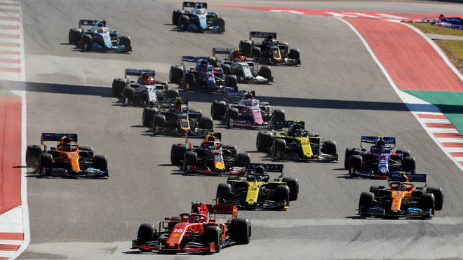 Cars taking part in the United States Grand Prix on November 3