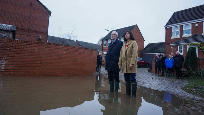 Mr Corbyn visited flood hit areas of Doncaster at the weekend