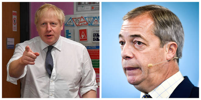 File photo: Boris Johnson (left) and Nigel Farage