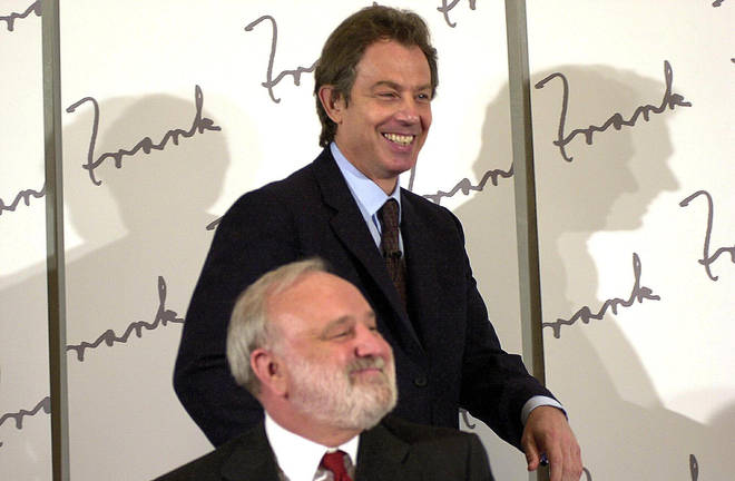 The then prime minister Tony Blair and former Labour Health Secretary Frank Dobson.