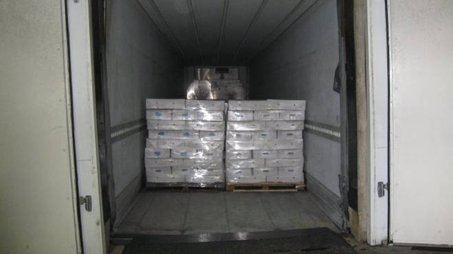 The cocaine was found in an HGV from the Hook of Holland