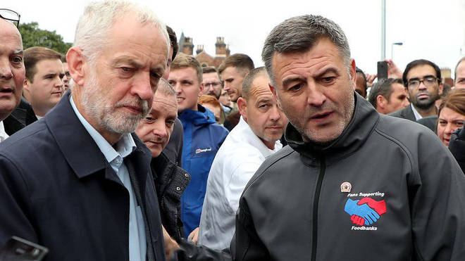 Byrne pictured with Labour leader Jeremy Corbyn