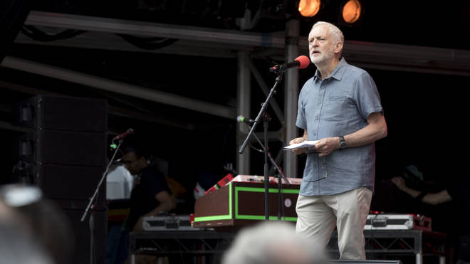 Jeremy Corbyn speaking at Labour Live
