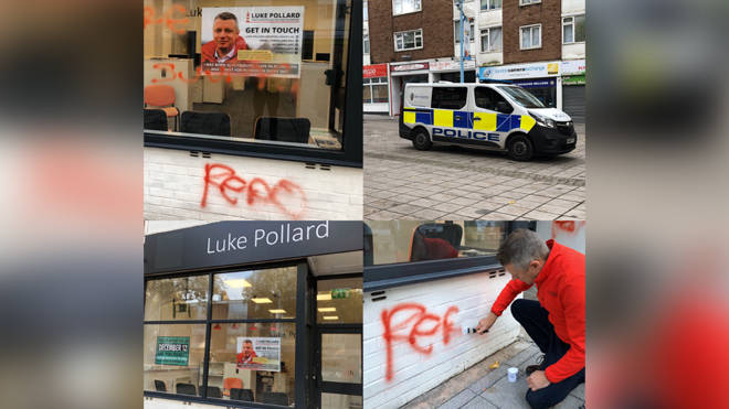 Mr Pollard shared images of the vandalism online