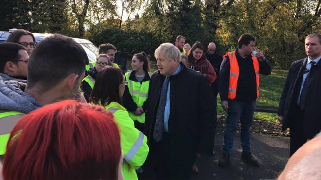 Boris Johnson visiting Stainforth today