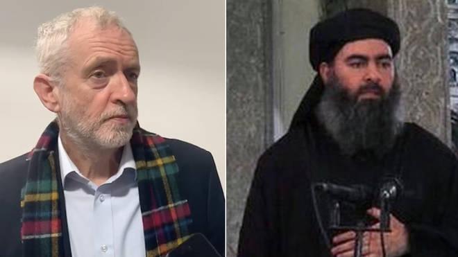 Jeremy Corbyn said he'd prefer if al-Badhdadi wasn't killed