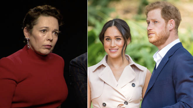 Olivia Colman criticised the press for their treatment of Harry and Meghan