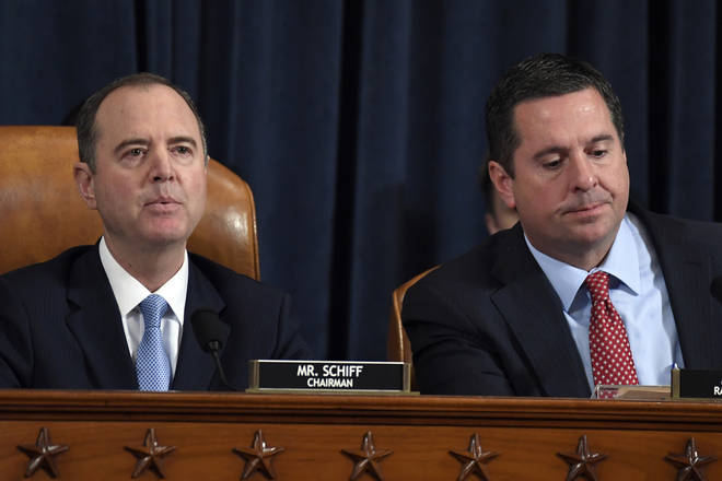 Adam Schiff (L) will be chairing the intelligence committee