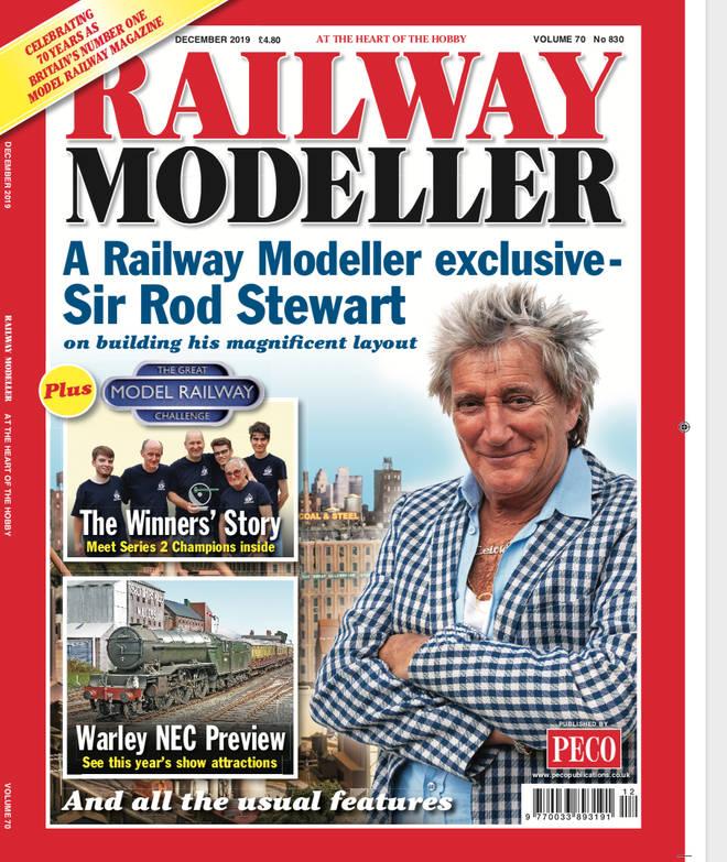 Sir Rod Stewart revealed his hobby to Railway Modeller magazine