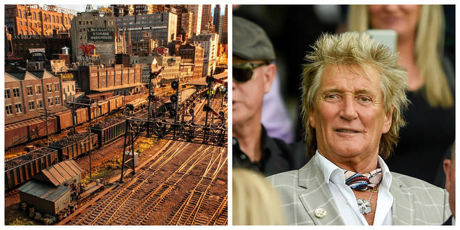 Rod Stewart has been working on the intricate model city for the past 23 years