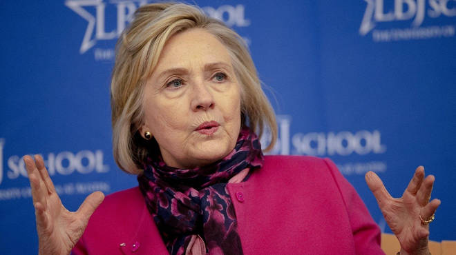 Hillary Clinton has been speaking at King's College London